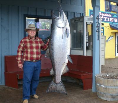 Lamar Steen and Friend In Homer, Alaska